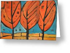 Autumn Quilt Greeting Card