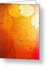 Autumn Raindrops Greeting Card