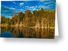 Autumn Reflection II Greeting Card