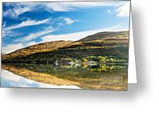 Autumn Reflection, Loch Long Greeting Card
