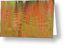 Autumn Reflections Abstract Greeting Card