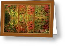 Autumn Reflections In A Window Greeting Card