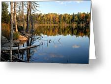 Autumn Reflections On Little Bass Lake Greeting Card