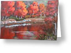 Autumn Reflexions 2 Greeting Card