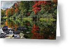 Autumn River Landscape Greeting Card