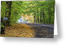 Autumn Road 2 Greeting Card