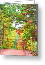 Autumn Road - Digital Paint Greeting Card