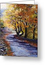 Autumn Road Home Greeting Card by Susan Jenkins