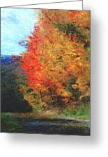 Autumn Roadside Greeting Card