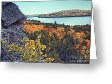 Autumn Rocks Booth's Rock Lookout Greeting Card