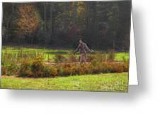 Autumn Scarecrow Greeting Card