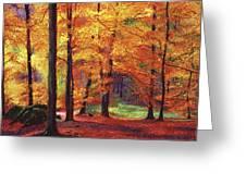 Autumn Serenity Greeting Card by David Lloyd Glover