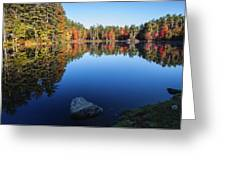 Autumn Serenity In Maine Usa Greeting Card