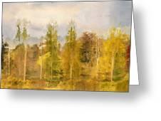 Autumn Shear Poplars Greeting Card