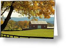 Autumn Shenandoah Barn Greeting Card