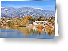 Autumn Snow At The Lake Greeting Card