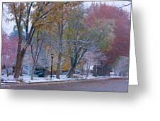 Autumn Snow Greeting Card