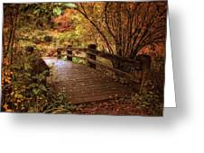 Autumn Splendor Bridge Greeting Card