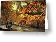 Autumn Splendor Promenade Greeting Card