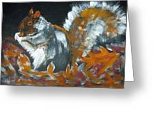 Autumn Squirrel Greeting Card