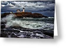 Autumn Storm At Cape Neddick Greeting Card