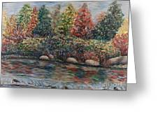 Autumn Stream Greeting Card by Nadine Rippelmeyer