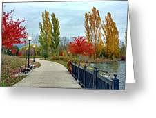 Autumn Stroll In The Park Greeting Card