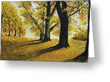 Autumn Sunny Day Greeting Card