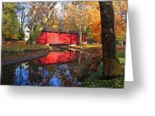 Autumn Sunrise Bridge II Greeting Card