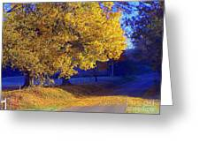 Autumn Sunrise In The Country Greeting Card