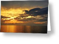 Autumn Sunrise In The Gulf  Greeting Card
