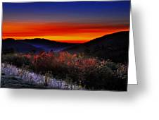 Autumn Sunrise Greeting Card by William Carroll