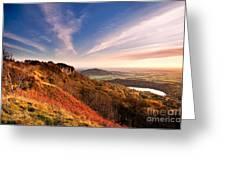 Autumn Sunset At Sutton Bank Greeting Card