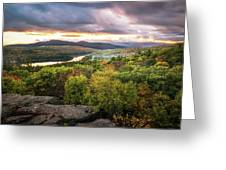 Autumn Sunset In The Catskills Greeting Card