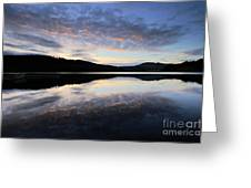 Autumn Sunset, Ladybower Reservoir Derwent Valley Derbyshire Greeting Card