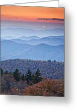Autumn Sunset On The Parkway Greeting Card