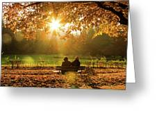 Autumn Sunshine In The Lichtentaler Allee. Baden-baden. Germany. Greeting Card