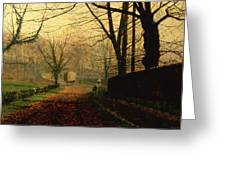 Autumn Sunshine Stapleton Parknear Pontefract  Greeting Card