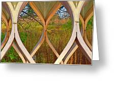 Autumn Symmetry Greeting Card