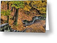 Autumn Trail - Rockyriver Metroparks Greeting Card