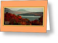 Autumn Trees Near A River H A With Decorative Ornate Printed Frame. Greeting Card