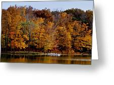 Autumn Trees Greeting Card by Sandy Keeton