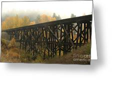 Autumn Trestle Greeting Card
