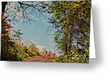 Autumn Up Hill Greeting Card