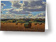 Autumn Valley Bales Greeting Card