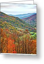 Autumn Valley Greeting Card