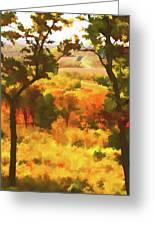 Autumn View, Montelle Winery, Augusta, Missouri Greeting Card