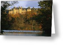 Autumn View Of The Biltmore Greeting Card by Melissa Farlow