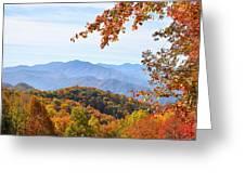 Autumn View Of The Smokies Greeting Card
