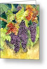Autumn Vineyard In Its Glory - Batik Style Greeting Card